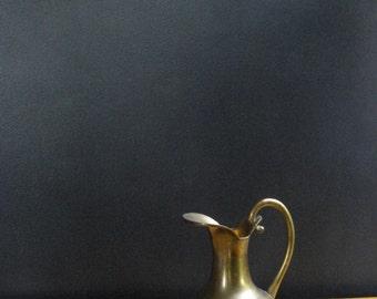 Champion Vessel - Small Vintage Brass Water Pitcher