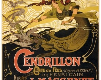 antique victorian french illustration fairy tale cendrillon digital download