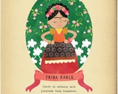 Frida Kahlo Character Quote -  8x10 Archival Art Print