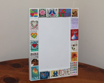 Love Postage Stamp Frame (Holds 4 x 6 photo)