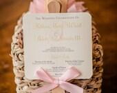 Printable Wedding Program Template / Wedding Fan Program / Blush and Gold Programs / Vintage Wedding - DIY Printable Pink Orchid Wedding Fan