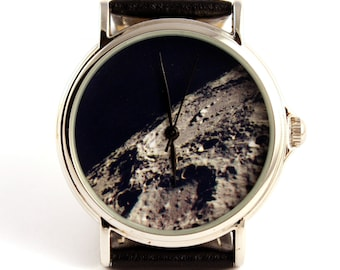 Wrist watch Moon photo, unisex watch, women watch, men wrist watch