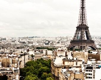 PARIS Photography TOUR EIFFEL 18 x 12 Print. Paris Photo, Icon, Travel Photography, Neutral, Eiffel Tower, Grey, White, Paris Architecture,