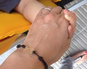 Infinity Bracelet 24kt Gold Plated Sterling Silver Infinity Charm Bridesmaid Gifts Friendship bracelet Sister Bracelet