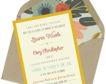 Lauren & Cory Wedding Invitation Set