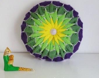 Knit decorative Pillow pattern/ tutorial PDF Geometric knitting - cushion PHOTO tutorial unique ...