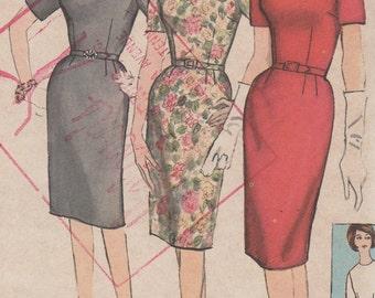 Bust 36-FACTORY FOLDED 1960's Misses' Dress Simplicity 4558 Sz 16