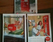 SALE 1948 Life Magazine Lot of 3 Full Issues with Great COKE Advertisements