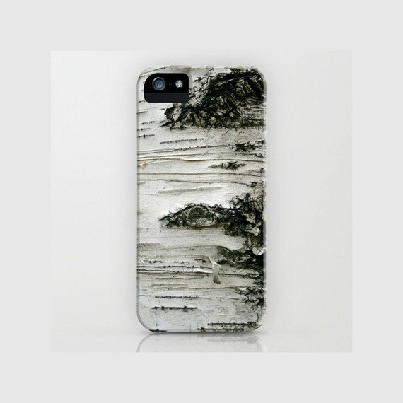 Birch iPhone case - Phone 5 5s 5c case, birch tree, woods, grey, rustic - also for iPhone 4 iPhone 4s