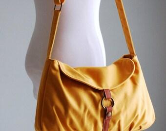 BIG SALE, Handbag - Mustard, Shoulder Bag, Messenger Bag, Handbag / School Bag/ Women /For Her/ Hobo Bag,  40% OFF
