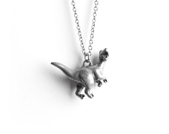 Velociraptor, Dinosaur Necklace, Jurassic World, Dinosaurs, T-rex, Totem Necklace, Gifts for Him, Unisex Necklace, Charm