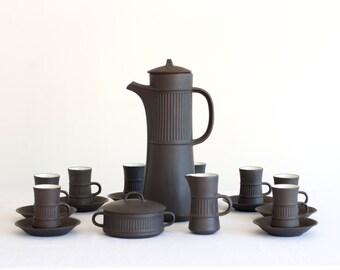 Vintage Complete Modernist Dansk Flamestone Jens Quistgaard / Demitasse Set for 8 - Mid Century Modern