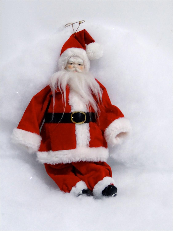 Vintage Santa Claus / Holiday Christmas Ornament Decoration