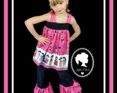 FREE US SHIPPING on Toddlers 2 Piece Open Back Delaney Top with matching Double Ruffle Capris - Birthday - Party - Celebration - Gift