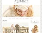 Premade Blogger Template - Sara Davis - Blog Template