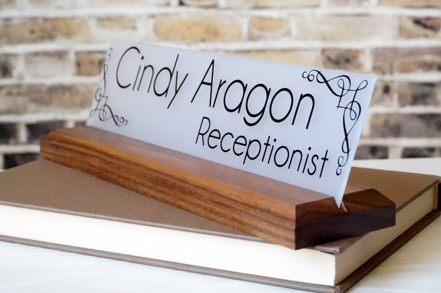 Office Name Plates: Desk Accessories Office Name Plate Personalized By GaroSigns