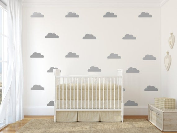 cloud decal gold cloud wall decals silver clouds wall decals. Black Bedroom Furniture Sets. Home Design Ideas