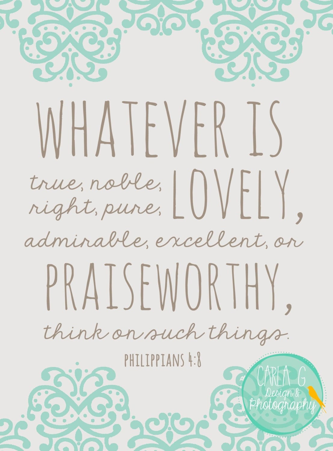 Whatever Is True Philippians 4 8