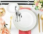 Giraffe plate set