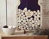 Bottle of Hearts - Wedding Guest book Alternative - Bottle with cork - Size 1