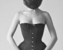 CORSET PATTERN Overbust Victorian Style. S, M and L size. Instant download pdf sewing pattern.