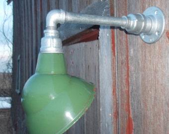 Relektrik™ Vintage Barn 8  Emblem Shade Green Porcelain Wall Mount Gas Station Industrial Warehouse & Relektrik™ Vintage Lighting Barn Again Quality by timbrewood azcodes.com