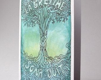 Lá Breithe Sona Duit, cárta gaeilge, Happy Birthday Celtic Tree greeting card in irish