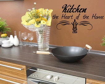 Wall Quotes Kitchen the Heart of the Home Wall Decal Kitchen Decal Removable Wall Sticker Wall Decal Quote (65)