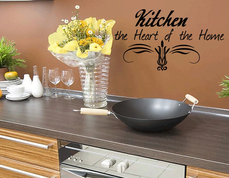 Wall Quotes Kitchen The Heart Of The Home Wall Decal Kitchen