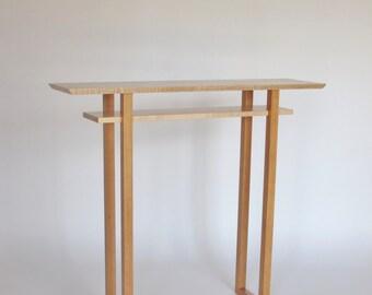 Hall console narrow entry table small hallway tables narrow - Table vitroceramique 2 foyers ...