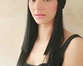 Workout headband, Yoga headband, Stretchy Headband, Sweatband, Fitness headband, boho hairband, Women's headband, Jersey Head tie - Black