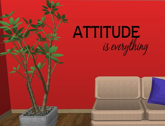Attitude Is Everything Vinyl Wall Decal Quotes Home Wall