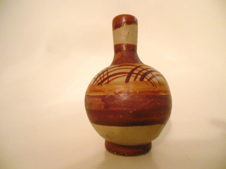 Small Southwest Pottery Vase Vintage Mexican Pottery Vase