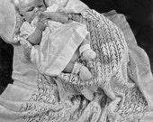 PDF Knitting Pattern Three Heirloom Traditional Baby Shawls 3 Ply Instant Download