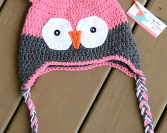 Girls Owl Hat, Crochet Owl Hat, Crochet Kids Hat, Baby Owl Hat, Owl Hat For Baby