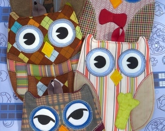 Doctor Who Owl Hot Pads - Pick Any 2