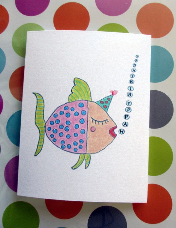 Happy Birthday Card Happy Birthday Fish Card Fish Birthday – Fish Birthday Cards