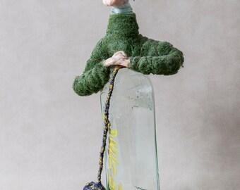 Office Decor Albert Einstein sculpture OOAK Physics Art Nerdy Art e equals mc2 Nerdy Geeky Physics Teacher