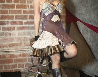 Desert Dolly Lace and Stripes Slip Dress