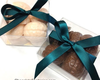 Mini Chocolate Brains 2.5 oz Favor Box, Neurology Chocolates, Psychology Gifts, Halloween