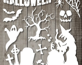 Halloween Clipart - Digital Clip Art Graphics