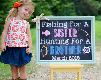 Custom Printable Big Brother Announcement // Pregnancy Reveal // Fishing // Hunting // New Big Brother // Pregnancy Announcement