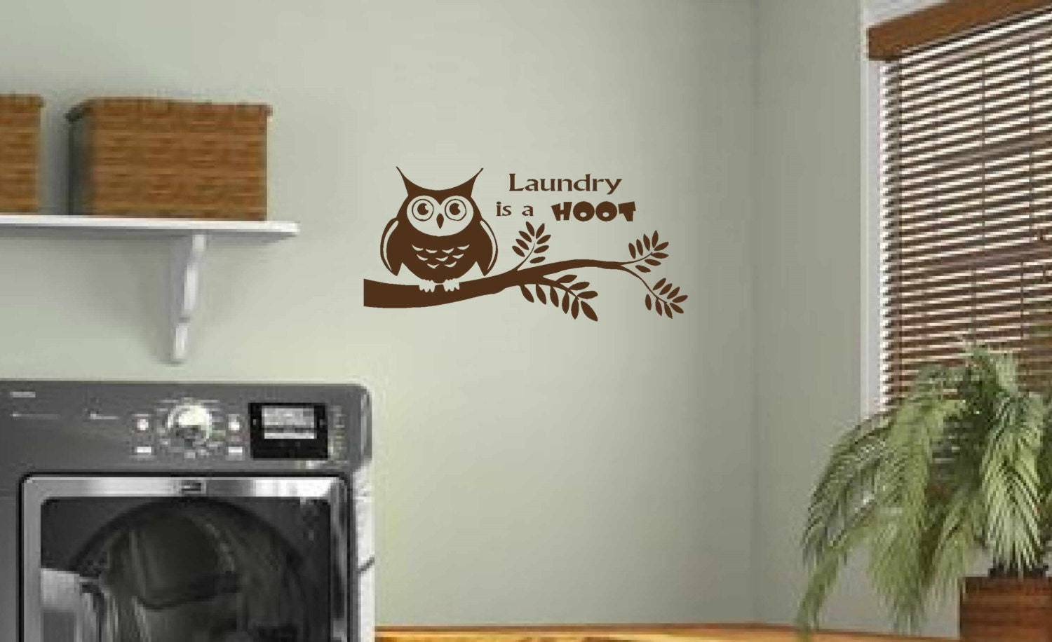 Laundry Wall Decal Laundry Room Decor Laundry Is A HOOT