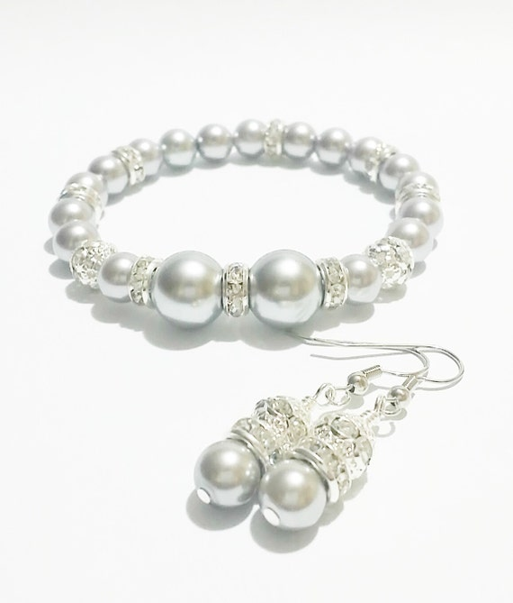 Bridesmaid jewelry earring and bracelet sets burgos