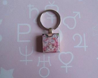 Sailor Chibi Moon - Sailor Moon Scrabble Tile Keychain