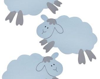 Leaping Lambs Nursery Wall Art - 5 Piece Pack