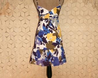 Spaghetti Strap Dress Summer Dress Boho Sundress Cotton Dress Casual Dress Abstract American Eagle Size 2 Size 4 XS Small Womens Clothing