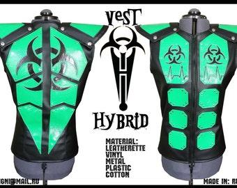 Cyber Goth Man Vest