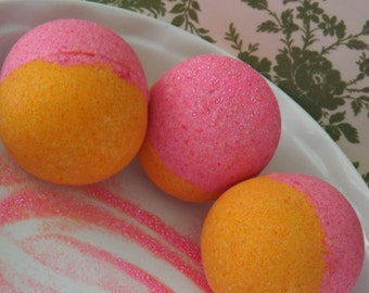 Cherry on Top - Bath Bomb  - Japanese Cherry Blossom Scent. Huge 8 to 9 oz.