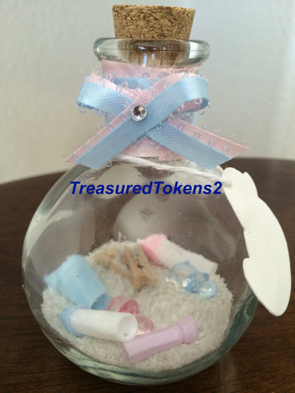 baby shower favor 2 cork baby bottles baby by treasuredtokens2
